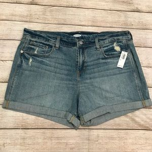 NWT Old Navy Distressed Jean Shorts Size 14
